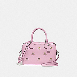 MINI BENNETT SATCHEL WITH ALLOVER STUDS - F73172 - TULIP