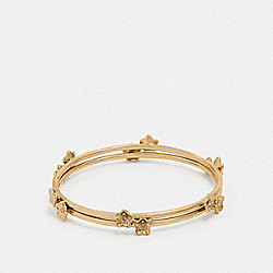 FOLK FLORAL BANGLE - F73178 - GOLD