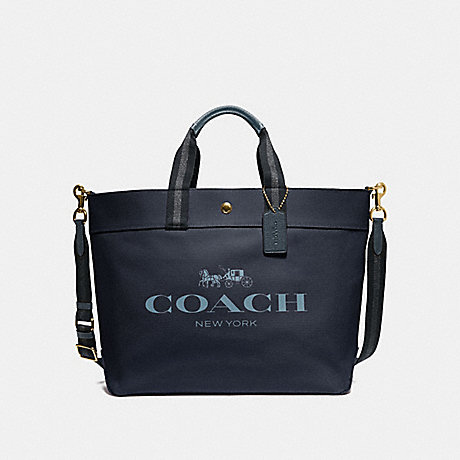 COACH F73195 EXTRA LARGE TOTE WITH COACH PRINT MIDNIGHT/GOLD