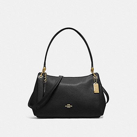 COACH F73196 SMALL MIA SHOULDER BAG BLACK/GOLD