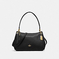 COACH F73196 Small Mia Shoulder Bag BLACK/GOLD