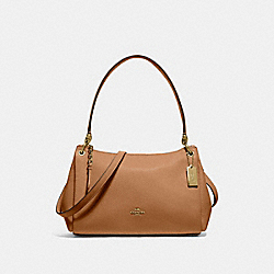 SMALL MIA SHOULDER BAG - F73196 - LIGHT SADDLE/GOLD