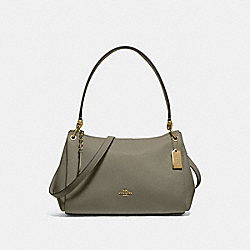 COACH F73196 Small Mia Shoulder Bag MILITARY GREEN/GOLD