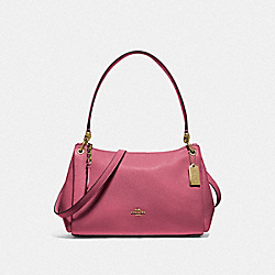 SMALL MIA SHOULDER BAG - F73196 - ROUGE/GOLD