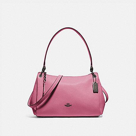 COACH F73196 SMALL MIA SHOULDER BAG QB/PINK ROSE