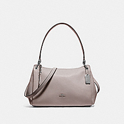 SMALL MIA SHOULDER BAG - F73196 - GREY/SILVER