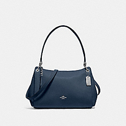 COACH F73196 - SMALL MIA SHOULDER BAG DENIM/SILVER