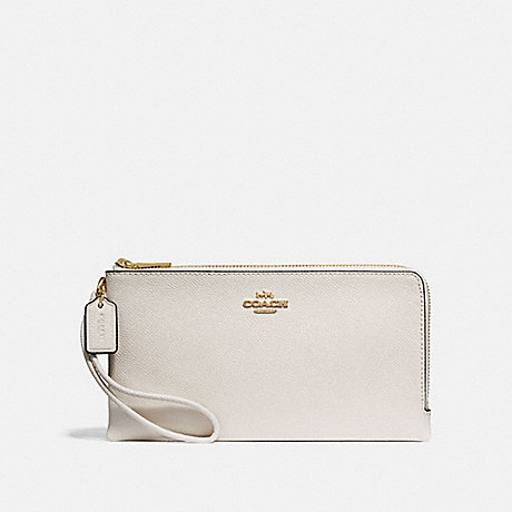 COACH F73200 DOUBLE ZIP WALLET CHALK/IMITATION-GOLD