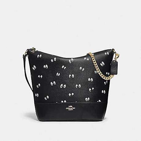 COACH F73202 DISNEY X COACH PAXTON DUFFLE WITH SNOW WHITE AND THE SEVEN DWARFS EYES PRINT BLACK/MULTI/GOLD