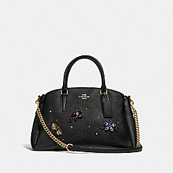 SAGE CARRYALL WITH GEMSTONES - F73206 - BLACK/MULTI/GOLD