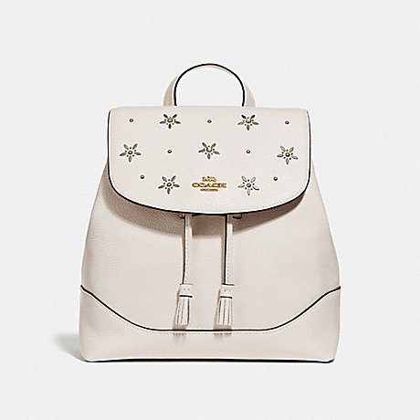 COACH F73207 ELLE BACKPACK WITH ALLOVER STUDS CHALK