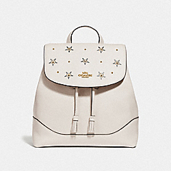 ELLE BACKPACK WITH ALLOVER STUDS - F73207 - CHALK