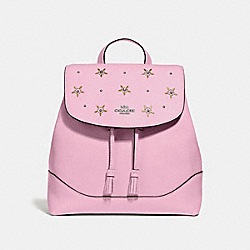 ELLE BACKPACK WITH ALLOVER STUDS - F73207 - TULIP