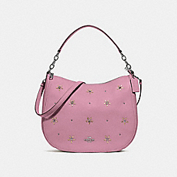 COACH F73208 - ELLE HOBO WITH ALLOVER STUDS TULIP