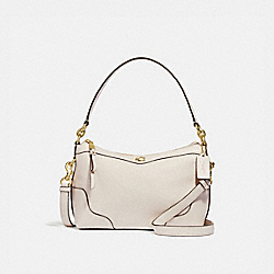 EAST/WEST SMALL IVIE SHOULDER BAG - F73271 - CHALK/GOLD