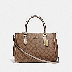 COACH F73289 - SURREY CARRYALL IN SIGNATURE CANVAS GOLD/KHAKI/PLATINUM