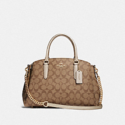 COACH F73292 - SAGE CARRYALL IN SIGNATURE CANVAS GOLD/KHAKI/PLATINUM