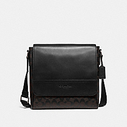 COACH F73339 Houston Map Bag In Signature Canvas MAHOGANY/BLACK/BLACK ANTIQUE NICKEL