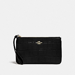 LARGE WRISTLET - F73377 - BLACK/IMITATION GOLD