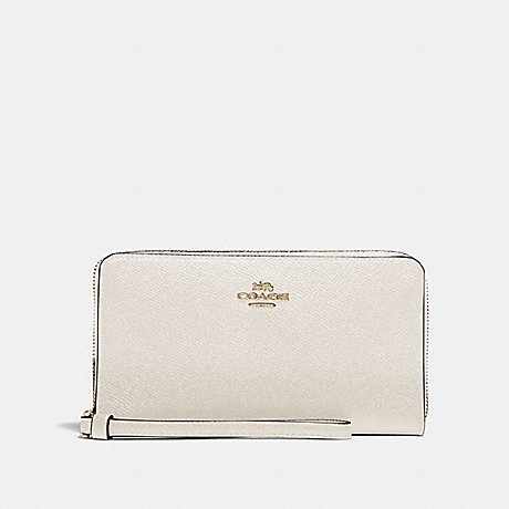 COACH F73413 LARGE PHONE WALLET CHALK/GOLD