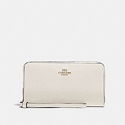 COACH F73413 - LARGE PHONE WALLET CHALK/GOLD