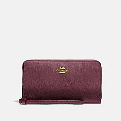COACH F73413 Large Phone Wallet IM/METALLIC WINE