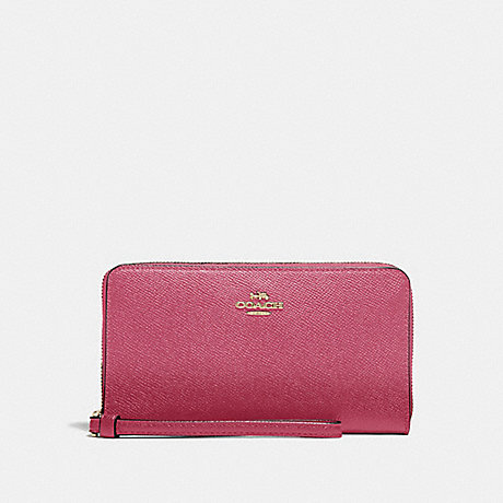 COACH LARGE PHONE WALLET - ROUGE/GOLD - F73413