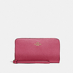 COACH F73413 Large Phone Wallet ROUGE/GOLD