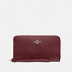 COACH F73413 Large Phone Wallet IM/WINE