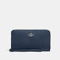 COACH F73413 - LARGE PHONE WALLET DENIM/SILVER