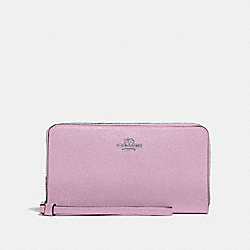 COACH F73413 - LARGE PHONE WALLET LILAC/SILVER