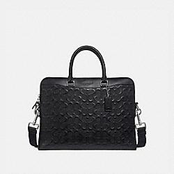 COACH F73419 Beckett Portfolio Brief In Signature Leather BLACK/NICKEL
