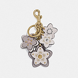 COACH F73425 Wildflower Mix Bag Charm GREY BIRCH/GOLD