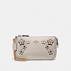 COACH F73443 Large Wristlet 19 With Floral Applique CHALK MULTI/IMITATION GOLD