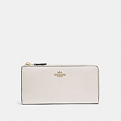 COACH F73445 - L-ZIP WALLET CHALK/IMITATION GOLD