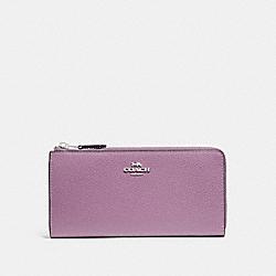 COACH F73445 L-zip Wallet JASMINE/SILVER