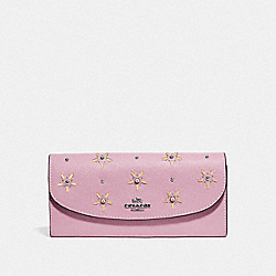 COACH F73495 Slim Envelope Wallet With Allover Studs TULIP