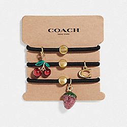 FRUIT CHARMS HAIR TIES - F73503 - MULTICOLOR