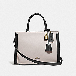 COACH F73518 Zoe Carryall In Colorblock CHALK MULTI/GOLD