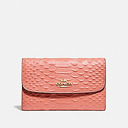 COACH F73566 - MEDIUM ENVELOPE WALLET LIGHT CORAL/GOLD
