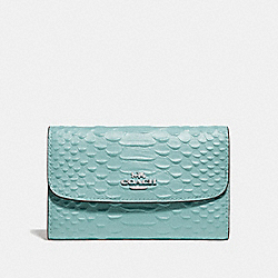 COACH F73566 - MEDIUM ENVELOPE WALLET SEAFOAM/SILVER