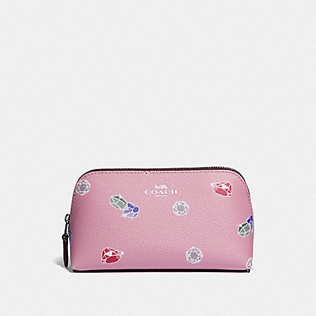 COACH F73582 DISNEY X COACH COSMETIC CASE 17 WITH SNOW WHITE AND THE SEVEN DWARFS GEMS PRINT TULIP/MULTI/SILVER
