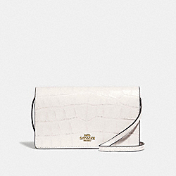 HAYDEN FOLDOVER CROSSBODY CLUTCH - F73587 - CHALK/IMITATION GOLD