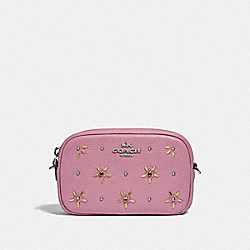 CONVERTIBLE BELT BAG WITH ALLOVER STUDS - F73614 - TULIP