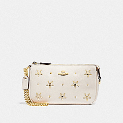 LARGE WRISTLET 19 WITH ALLOVER STUDS - F73615 - CHALK