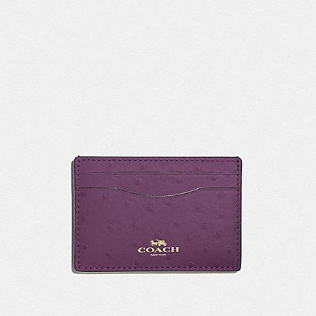 COACH F73634 CARD CASE BLACKBERRY/GOLD