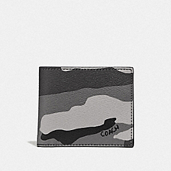 ID BILLFOLD WALLET WITH CAMO PRINT - F73664 - BLACK/MULTI