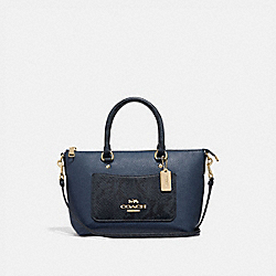 COACH F73697 Mini Emma Satchel DARK DENIM