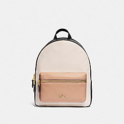 MEDIUM CHARLIE BACKPACK IN COLORBLOCK - F73711 - CHALK