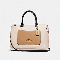 EMMA SATCHEL IN COLORBLOCK - F73714 - CHALK